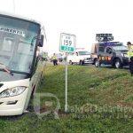 Bus Terperosok di Tol CIpali KM 159